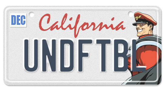Street Fighter License Plates: What If Your Favorite World Fighters Had Vanity Plates?