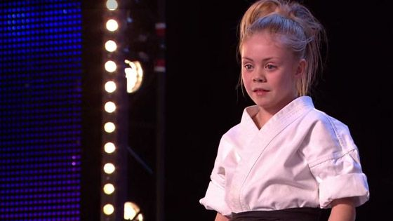 9 Year-Old Girl Amazes Britains Got Talent with Her Martial Arts Skills!
