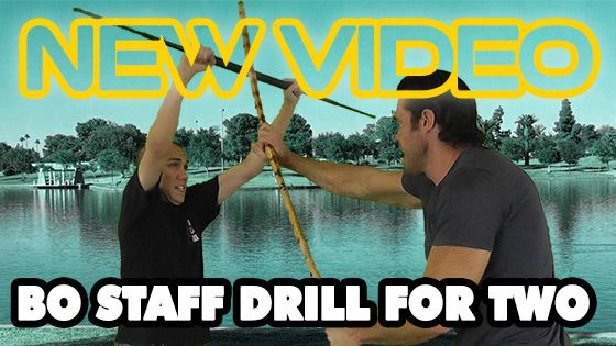 Easy Two-Person Bo Staff Drill