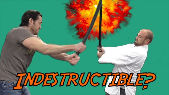 How Indestructible is the Indestructible Plastic Samurai Sword?