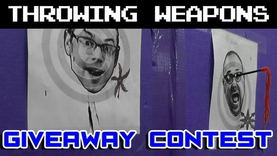 Throwing Weapons Giveaway Contest