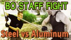 Which is Stronger? Solid Aluminum vs Steel Bo Staff - Watch the Video