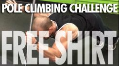 Win a Free Shirt in Our Pole Climbing Challenge