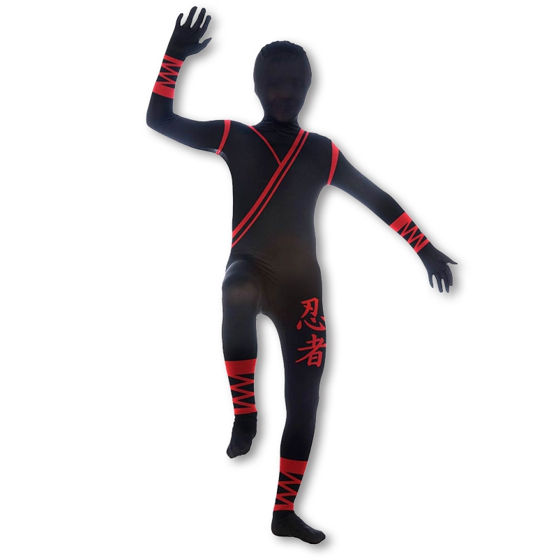 2nd Skin Kids Ninja Costume  sc 1 st  KarateMart & 2nd Skin Kids Ninja Costume - Childrenu0027s Ninja Morph Suit - Black ...