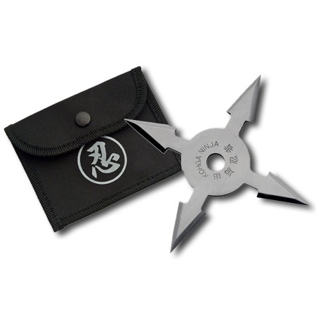 4 Point Silver Throwing Star