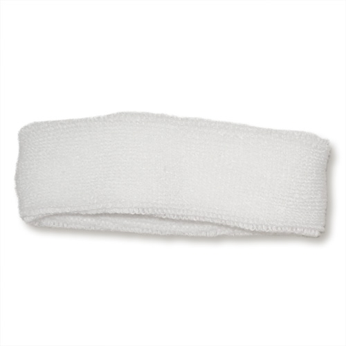 Absorbent Headband - Plain White Sweatbands - Sports Sweat Band b93e4a82155