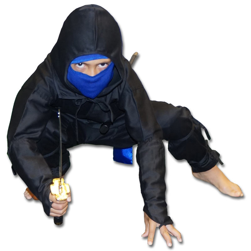 Black Ice Ninja Costume  sc 1 st  KarateMart & Black Ice Ninja Costume - Kids Real Ninja Uniform - Black and Blue ...