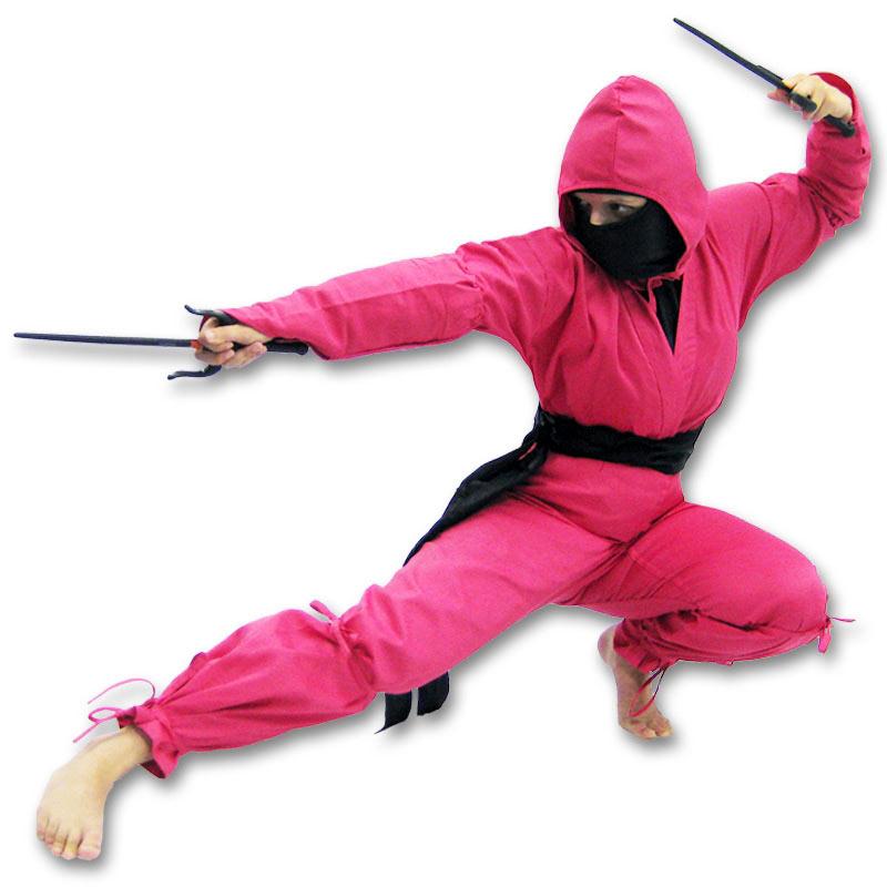 Adult pink ninja ostume