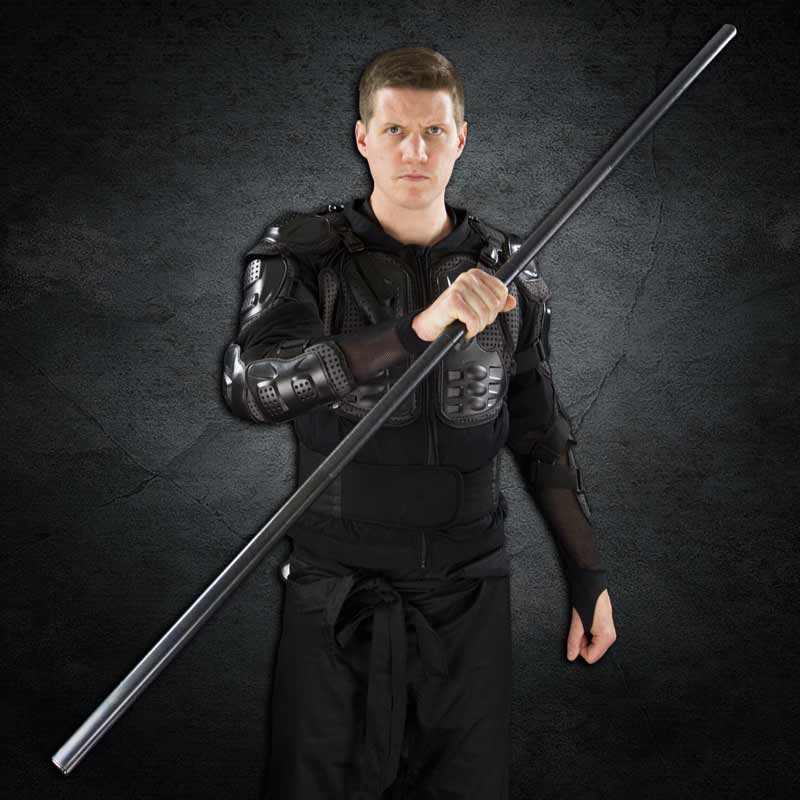 Medium Weight. Made in USA Steel Bo Staff Martial Art 1/' RND 6 ft L