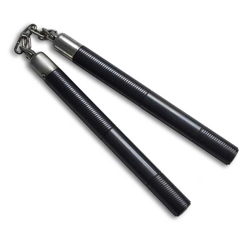 Black Steel Nunchaku