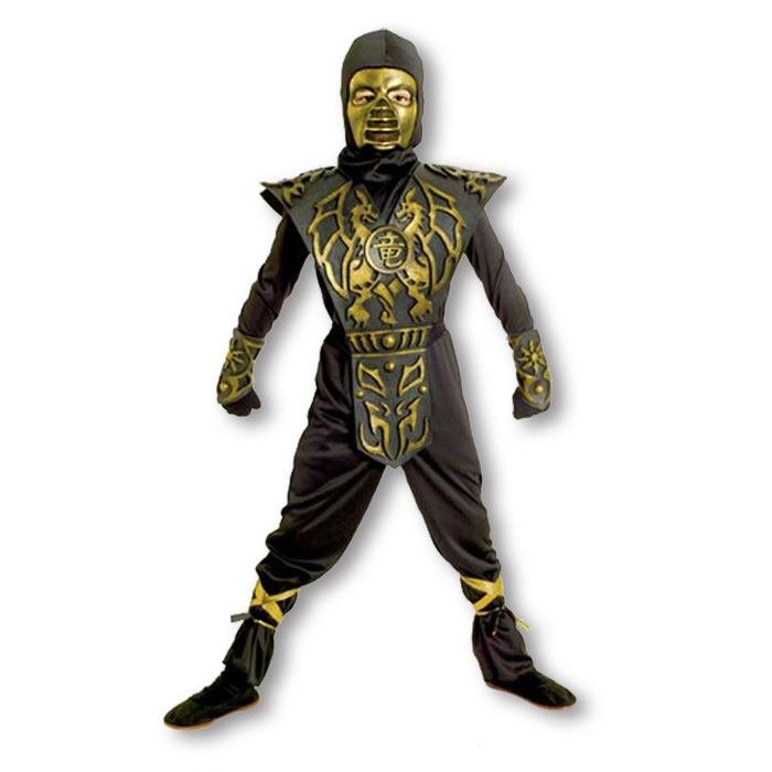 blazing dragon ninja costume
