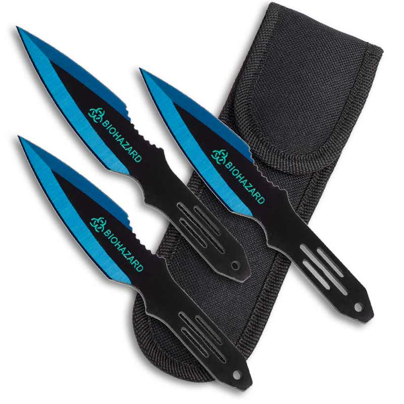 Blue Bomber Throwing Knives