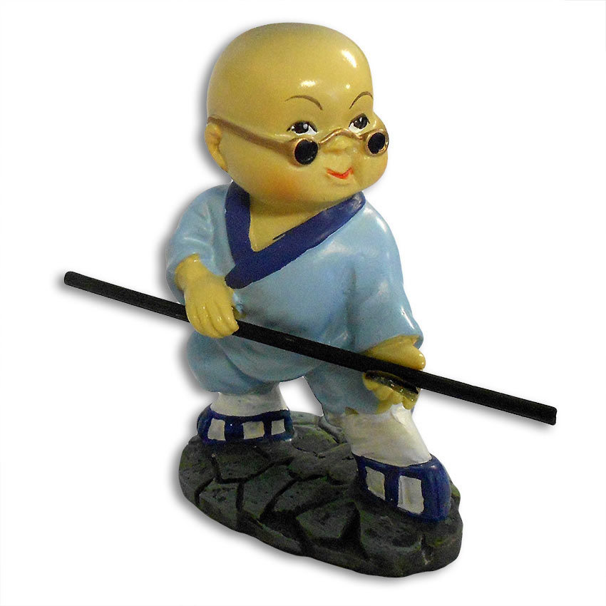 Kung Fu Signification bo staff kung fu monk - shaolin monk figurines - resin kung fu figurine