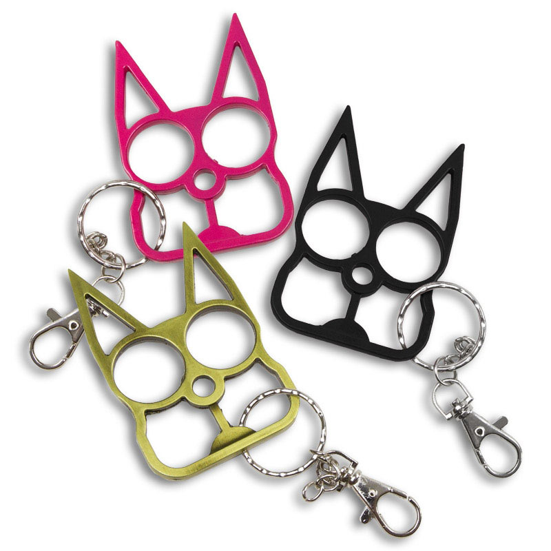 Cat Spike Keychain Self Defense Key Chains Spike Keyring