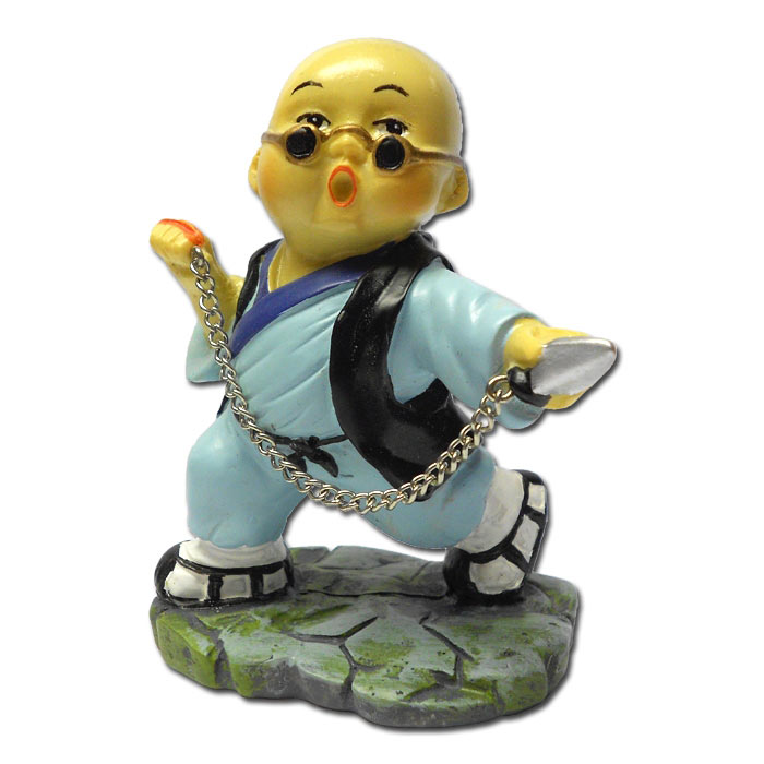 chain whip kung fu monk kung fu figurines monk statue. Black Bedroom Furniture Sets. Home Design Ideas