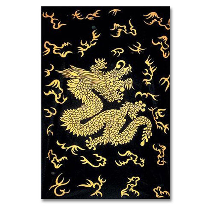 Chinese Golden Dragon Tapestry Martial Arts Curtains