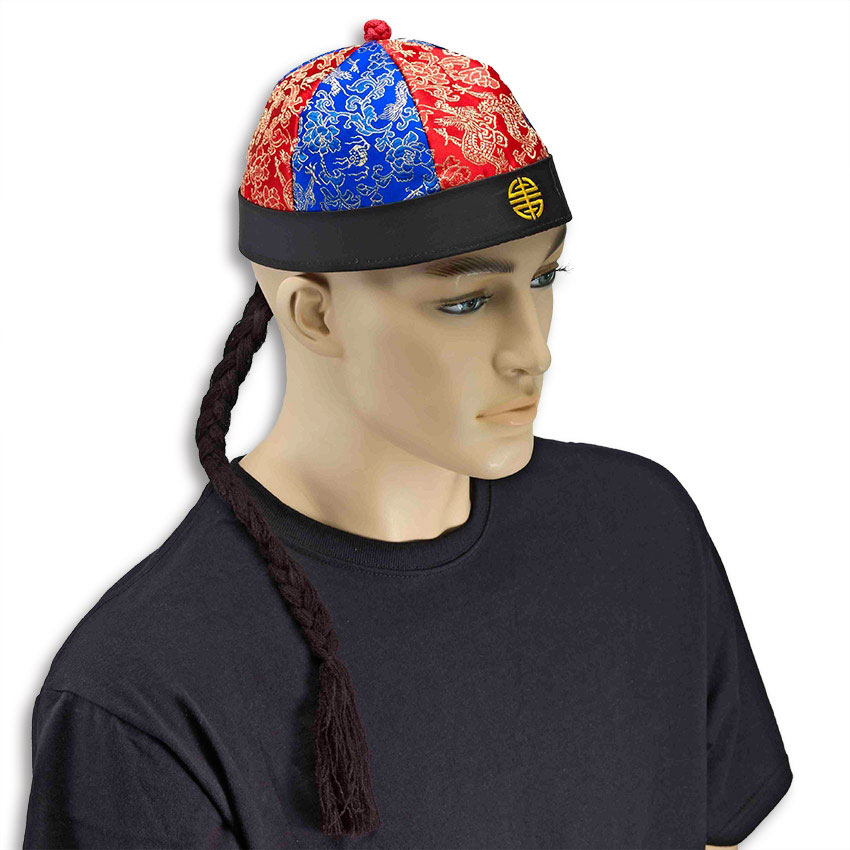 hat attached braid baseball cap hair