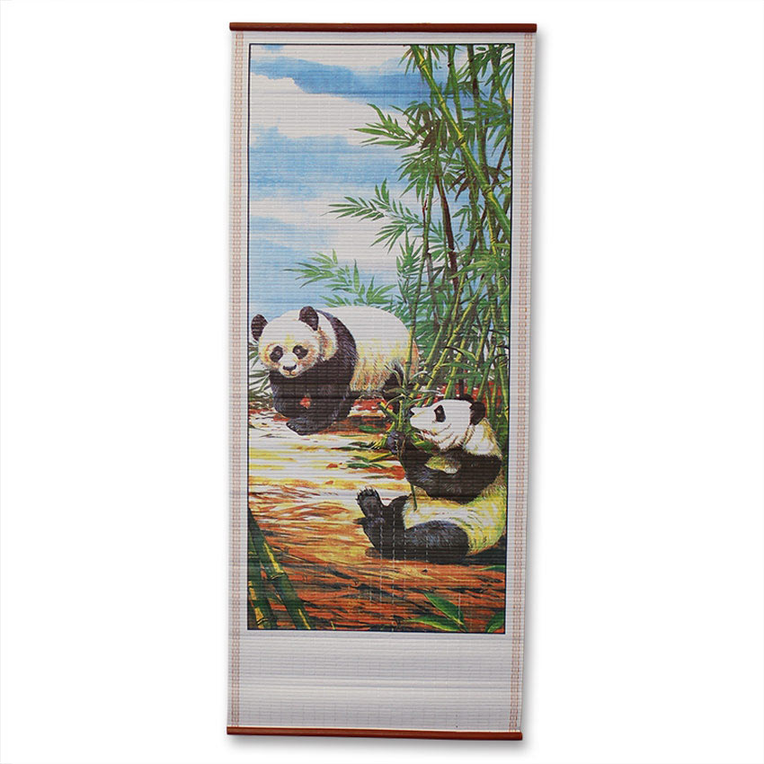 Chinese Pandas Wall Scroll Painting Traditional Pandas