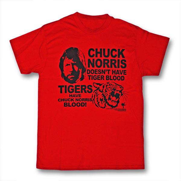 7f1a049ac35e Chuck Norris Tiger Blood T-Shirt - Chuck Norris Meme Tee Shirts - Tigers  Have Chuck Norris Blood Graphic Tee