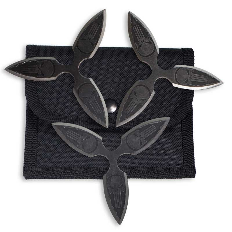 Dark Skull Throwing Star Set