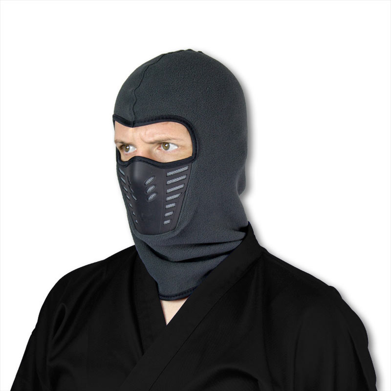 Deluxe Gray Ninja Mask  sc 1 st  KarateMart : costume face mask  - Germanpascual.Com