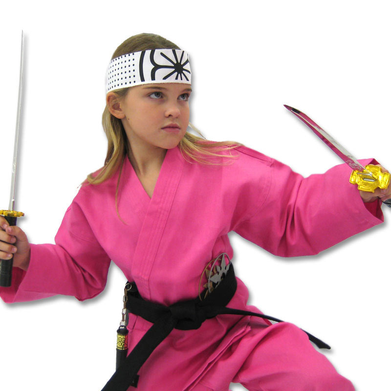 Deluxe Pink Karate Costume  sc 1 st  KarateMart & Deluxe Pink Karate Costume - Female Karate Halloween Costume - Girls ...