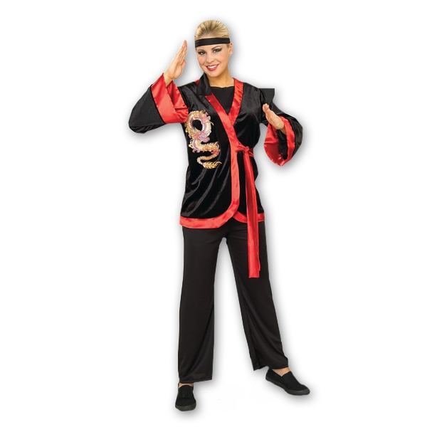 Dragon Ninja Girl Costume  sc 1 st  KarateMart & Dragon Ninja Girl Costume - Golden Dragon Karate Outfit - Womenu0027s ...