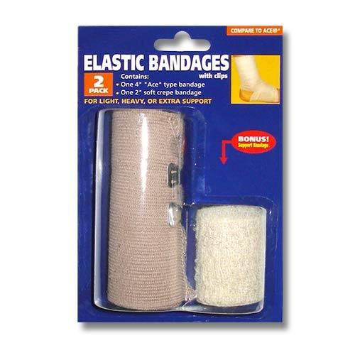 Elastic Bandage Wrap 4 Inch Ace Bandage Athletic Support Bandages