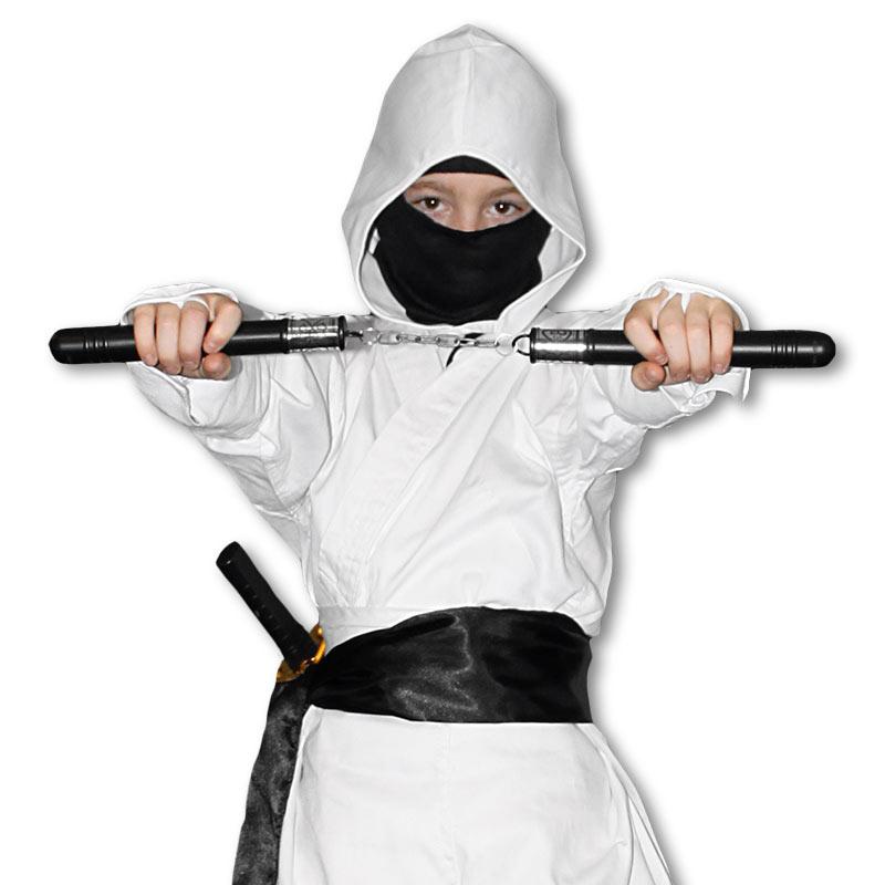 Ghost Ninja Costume  sc 1 st  KarateMart & Ghost Ninja Costume - White and Black Ninja Uniform - Assassins ...