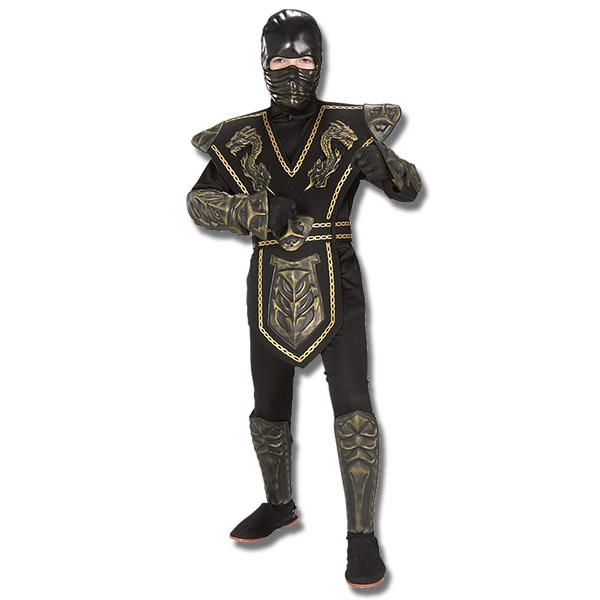 gold dragon warrior ninja costume armored ninja halloween outfit kids ninja combat costume. Black Bedroom Furniture Sets. Home Design Ideas