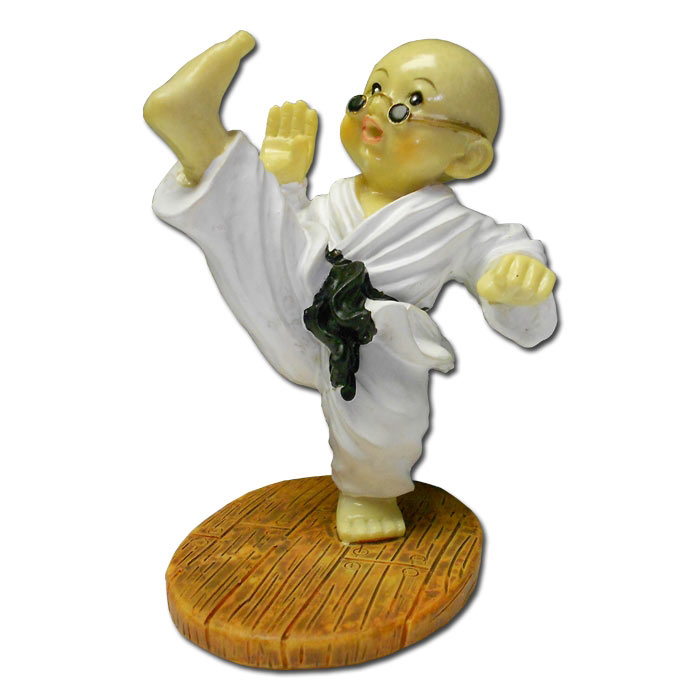 high kicking kung fu monk shaolin monk figurines kung fu monk statue. Black Bedroom Furniture Sets. Home Design Ideas