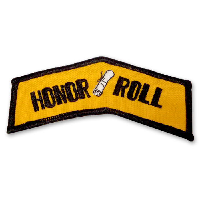 honor roll martial arts patch honor roll karate chevron patch rh karatemart com  honor roll clip art free