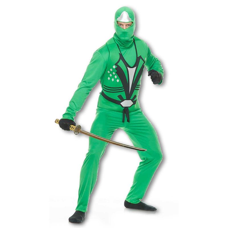 Jade Ninja Avenger Costume  sc 1 st  KarateMart & Jade Ninja Avenger Costume - Green Adult Ninja Outfit - Mens Reptile ...