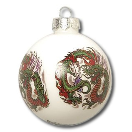japanese dragon christmas ornament