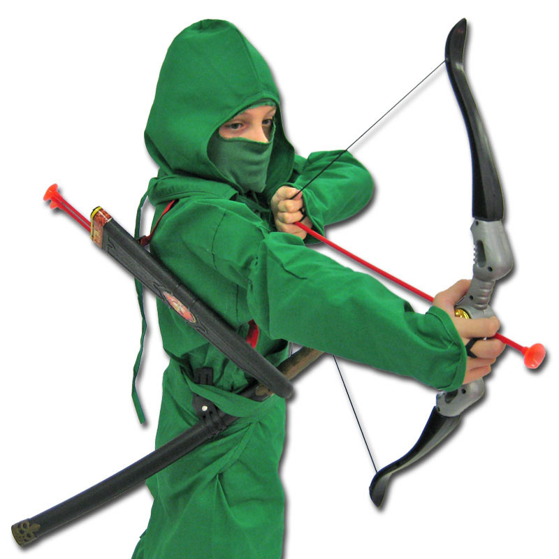 Jungle Strike Ninja Costume  sc 1 st  KarateMart & Jungle Strike Ninja Costume - Green Ninjago Archer Uniform - Green ...