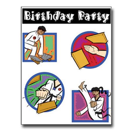 Karate Kids Birthday Invitations