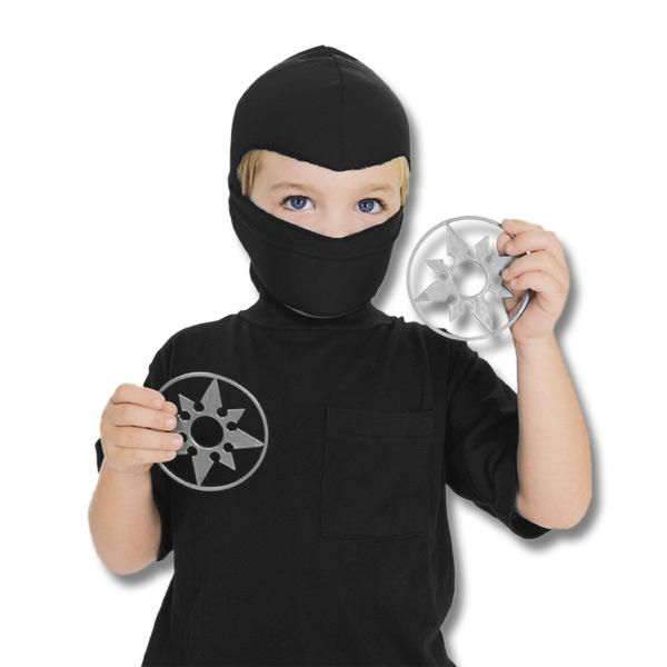 kids ninja hood and throwing stars kit cheap ninja mask