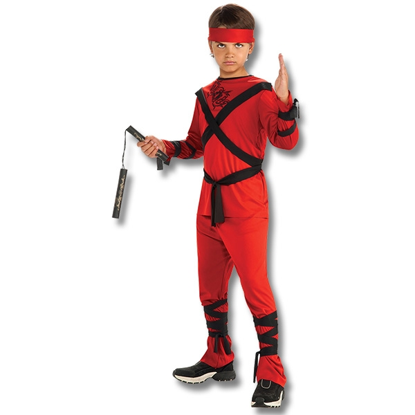 Red Ninja Kid Costume  sc 1 st  KarateMart & Red Ninja Kid Costume - Kids Ninja Halloween Costumes - Japanese ...