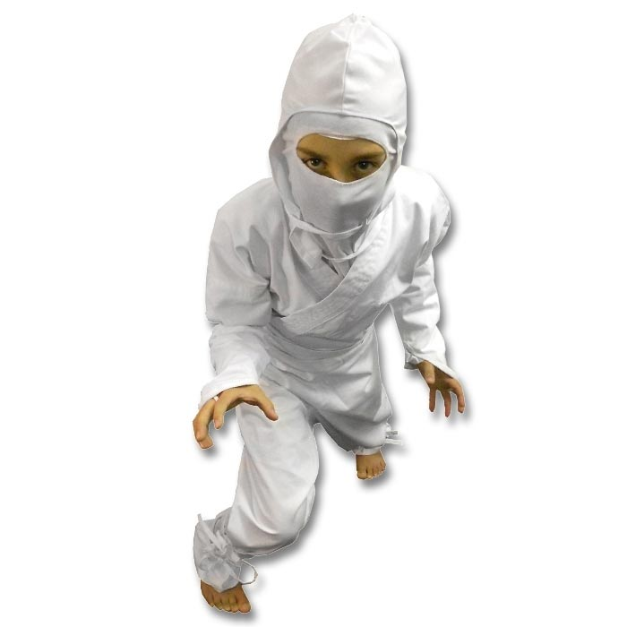 Kids White Ninja Uniform