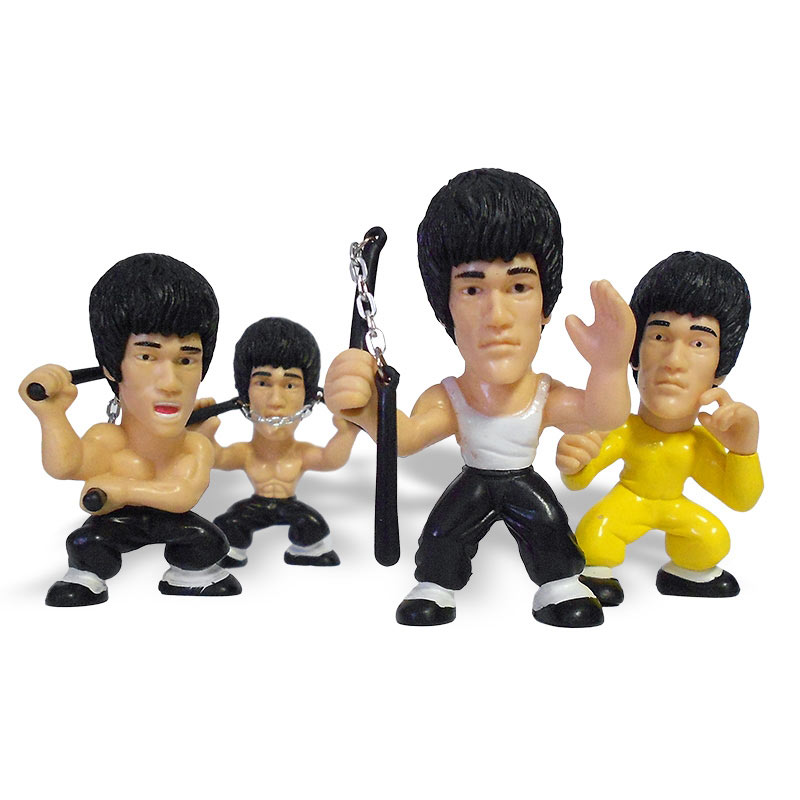 kung fu master figurines collectible bruce lee figurine set classic bruce lee toys. Black Bedroom Furniture Sets. Home Design Ideas