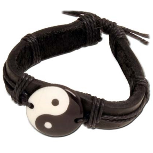 Leather Yin Yang Bracelet