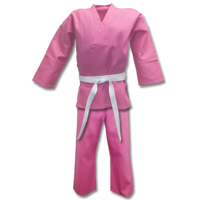 Lightweight Pink Karate Uniform (6oz)