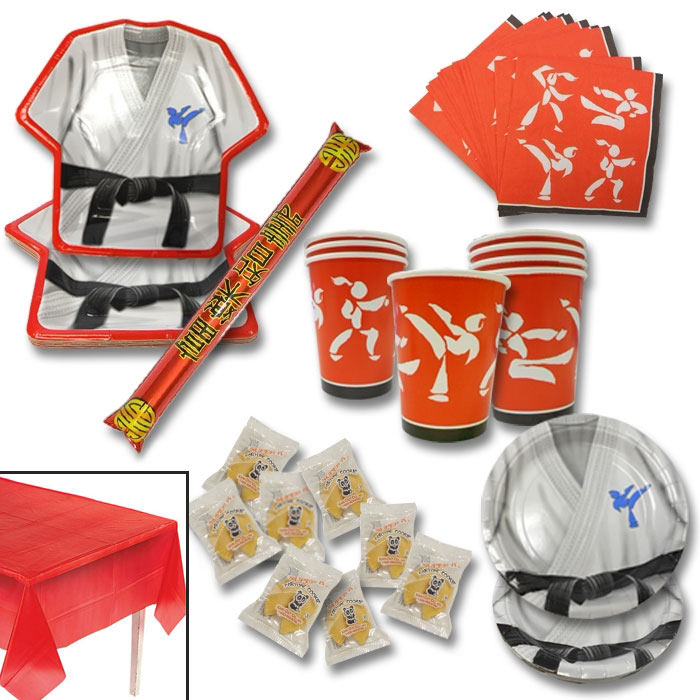 Martial Arts Party Pack - Martial Arts Birthday Supplies - Karate ...