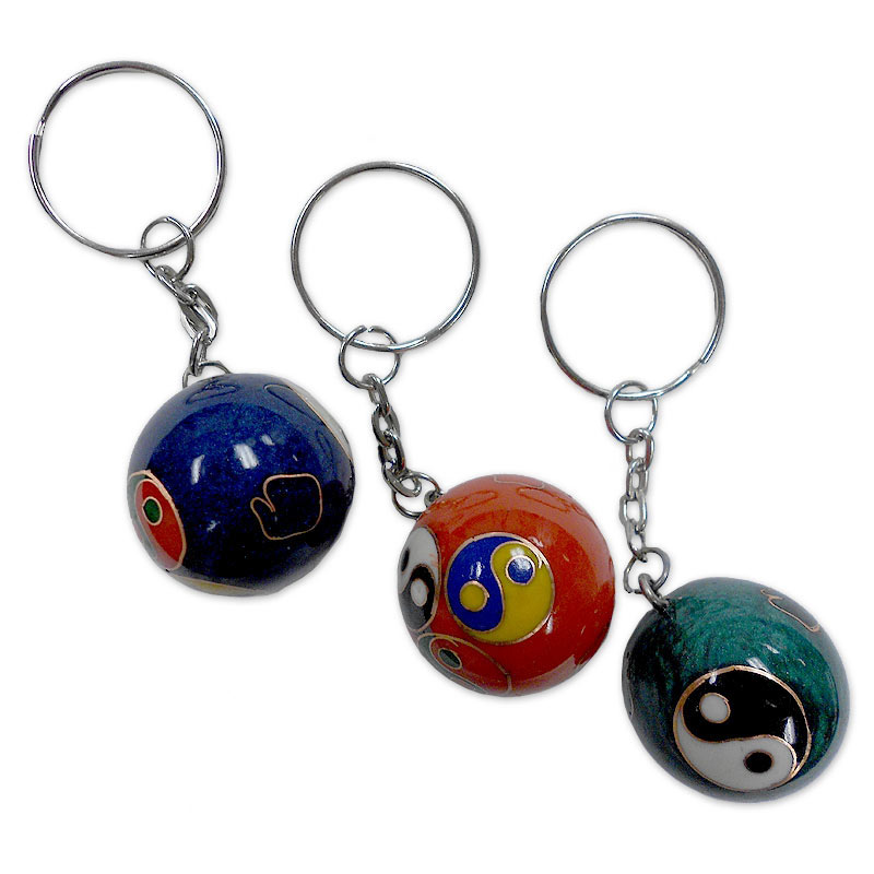 Mini Baoding Ball Keychain - Asian Chime Balls Keychains | KarateMart.com