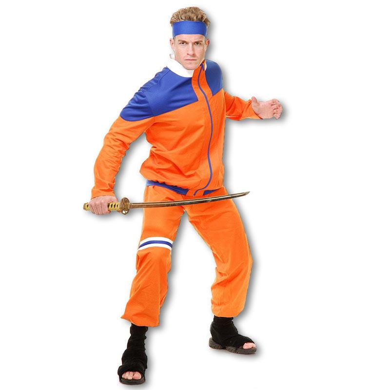 Naruto Ninja Fighter Costume  sc 1 st  KarateMart & Naruto Ninja Fighter Costume - Orange Anime Ninjas Outfit - Adults ...