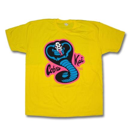 1b0c4006 Neon Cobra Kai T-Shirt - Karate Kid T-Shirts - Cobra Kai Shirt