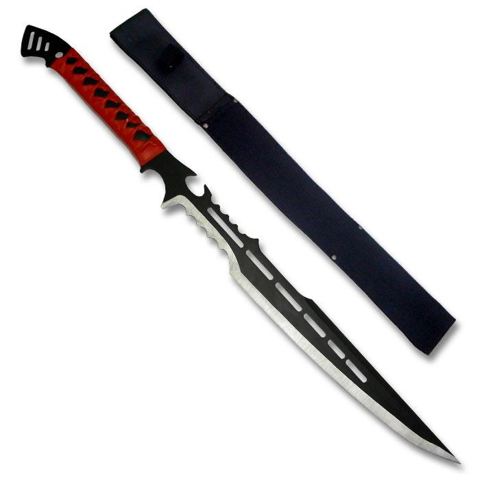 Ninja Assassin Short Sword Red Ninja Machetes Curved