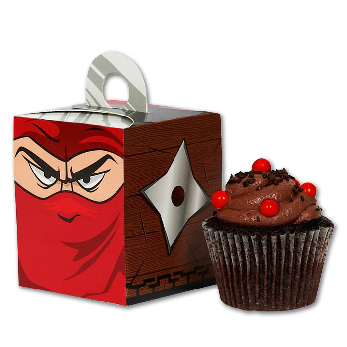 Ninja Attack Cupcake Boxes Karate Party Cup Cake Holders Martial