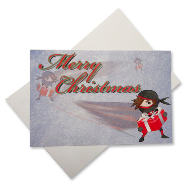Ninja Santa Christmas Postcards (10-Pack)