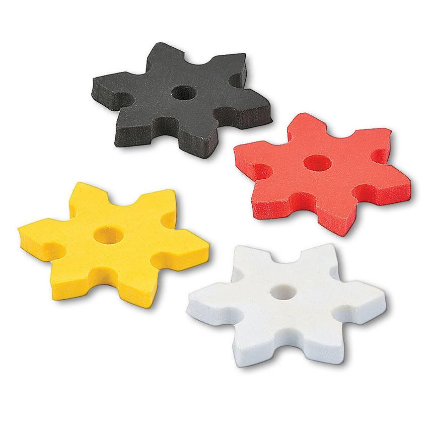 Ninja Star Erasers (12-Pack)